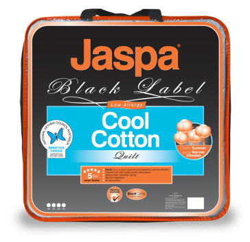 Cool Cotton Queen Quilt by Jaspa Black