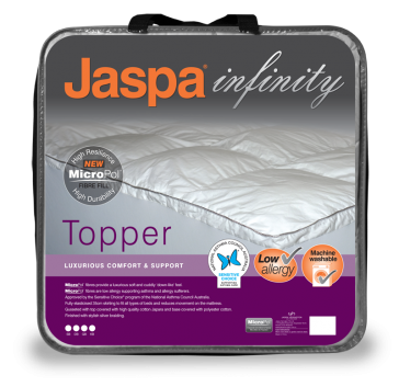 MicroPol Mattress Topper Double by Jaspa Infinity