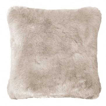 Faux Fur Cushion - Pebble