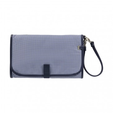 Change Navy/White Gingham Clutch by Oi Oi