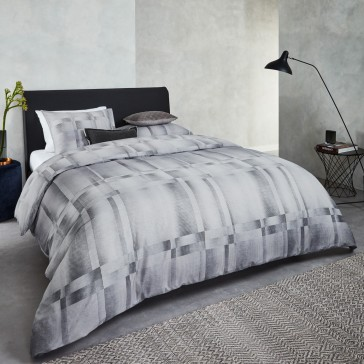 Titanium Grey Cotton Sateen Quilt Cover Set by Bedding House
