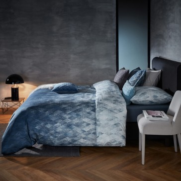 Harmonies Blue Cotton Sateen Quilt Cover Set by Bedding House