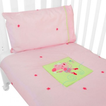 Ballerina Mouse 2 pce Quilt and Pillow Case Set by Babyhood