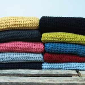 Knitted Throw 300GSM Stacked