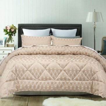 Living Gold 3 Piece Comforter Set by Accessorize