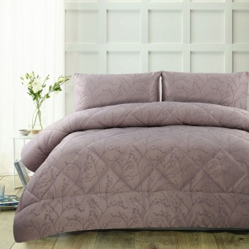 Pippa Mauve 3 Piece Comforter Set by Accessorize