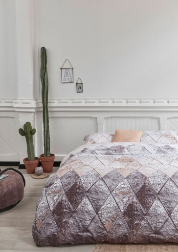 Leather Natural Cotton Quilt Cover Set by Bedding House