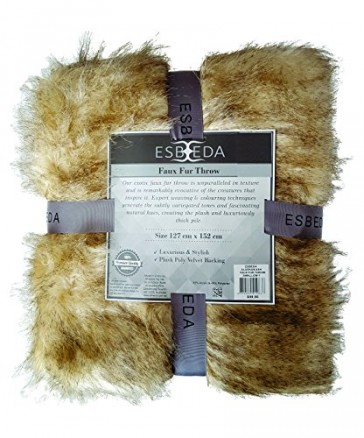 Esbeda Faux Fur Throw Siberian Sable by Bella Russo