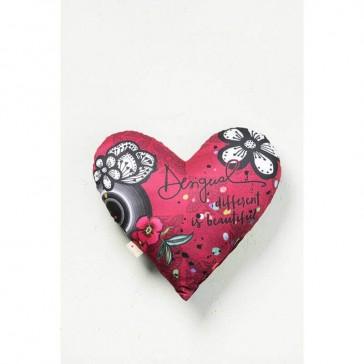 B&W Luxury Heart Cushion
