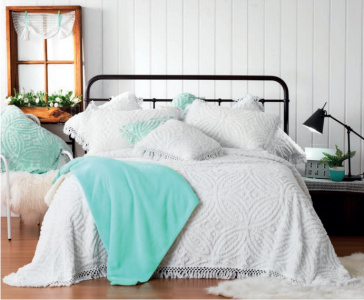 Kalia White Bedspreads Set by Bianca