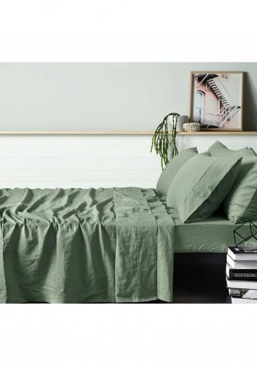 100% Linen Super King Sheet Set by Vintage Design
