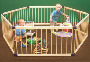 Wooden Playpen Deluxe 3 in 1 by Roger Armstrong