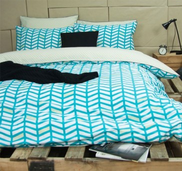 Banyan Teal Quilt Cover Set by Ardor