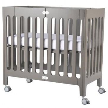 Alma Mini Frost Grey Crib by Bloom