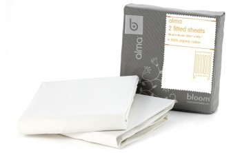Alma Mini Coconut White Fitted Sheet by Bloom