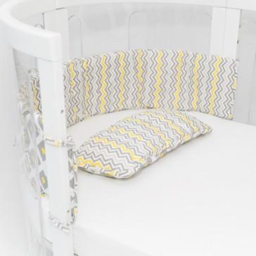 Cot Bumper & Pillow Set by Amani Bebe