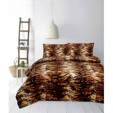 Micromink Tiger Queen  Quilt Cover Set by Apartmento