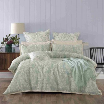 Aria Green Quilt Cover Set