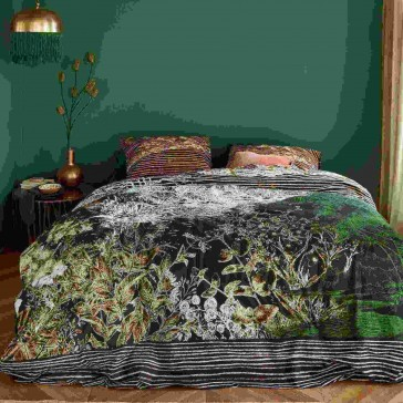 At Home Tales Black Quilt Cover Set