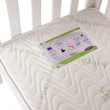 Breathe Eze TM Organic Bamboo Innerspring Mattress by Babyhood
