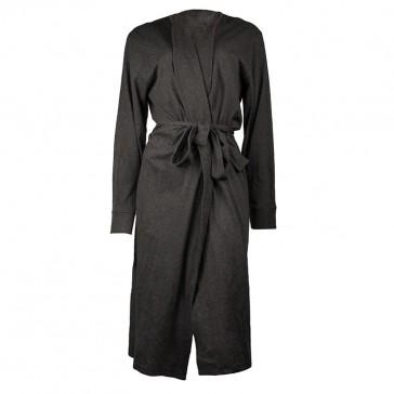 Jersey Hooded Marle Charcoal Bath Robe by Bambury
