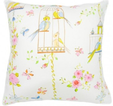 BlueBird Square Cushion by Lullaby Linen