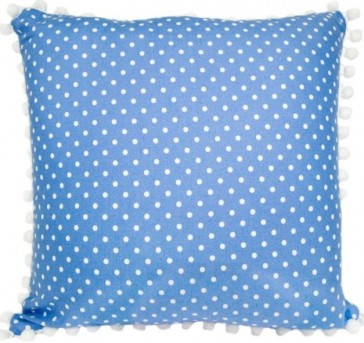 BlueBird Coin Dot Cushion by Lullaby Linen