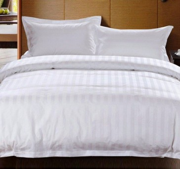 Chateau Satin Stripe Polyester and Cotton Quilt Cover Set