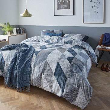 Tuur Blue Quilt Cover Set by Bedding House