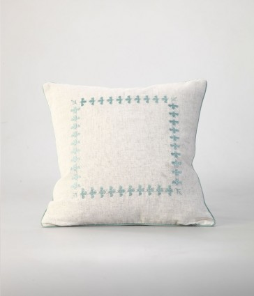 Bee Duckegg Square Cushion by MM Linen