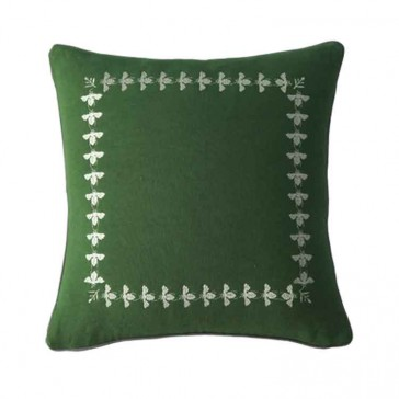 Bee Green Square by MM Linen