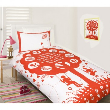The Bee's Knees Red Quilt Cover Set by Happy Kids