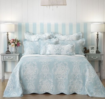 Florence Blue Bedspread by Bianca