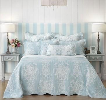 Florence Blue European Pillowcase by Bianca