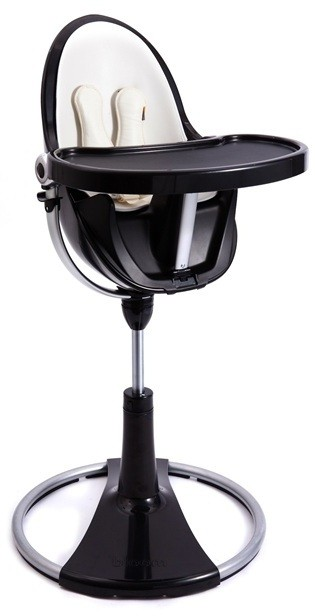 Black Fresco Chrome High Chair by Bloom
