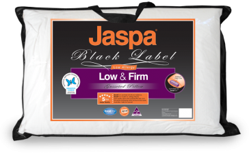 Low & Firm Pillow by Jaspa Black
