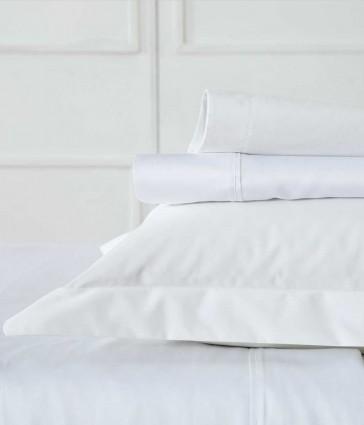 Blake Single White Sheet Set by MM Linen