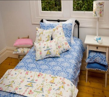 BlueBird Double Quilt Cover Set by Lullaby Linen