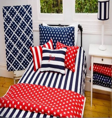 Brighton Blue Double Quilt Cover Set by Lullaby Linen