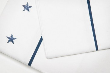 Brighton Blue Double Sheet Set by Lullaby Linen