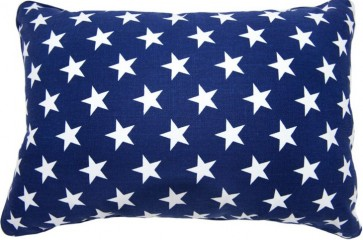 Brighton Blue Star Breakfast Cushion by Lullaby Linen