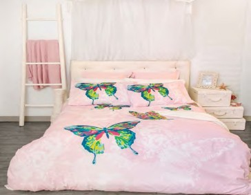 Butterfly Double Quilt Cover Set by Retro Home