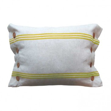 Button Stripe Gold Cushion by MM Linen