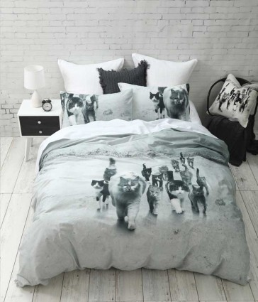 Catmob King Single Quilt Cover Set by MM linen