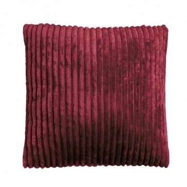 Channel Cushion Bordeaux by Bambury