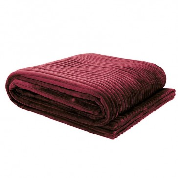 Channel Ultraplush Throw Bordeaux by Bambury