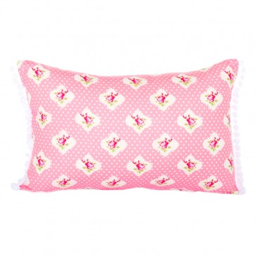 Damask Pink Classic Cushion by Lullaby Linen