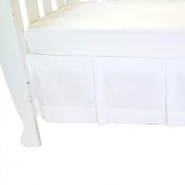 Classic White Cot Crib Valance White by Babyhood