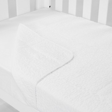 Cot Quilt Coverlet Classic White by Babyhood