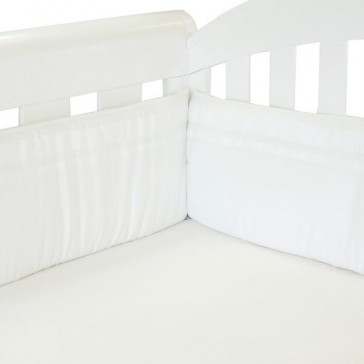 Classic White Cot Bumper by babyhood